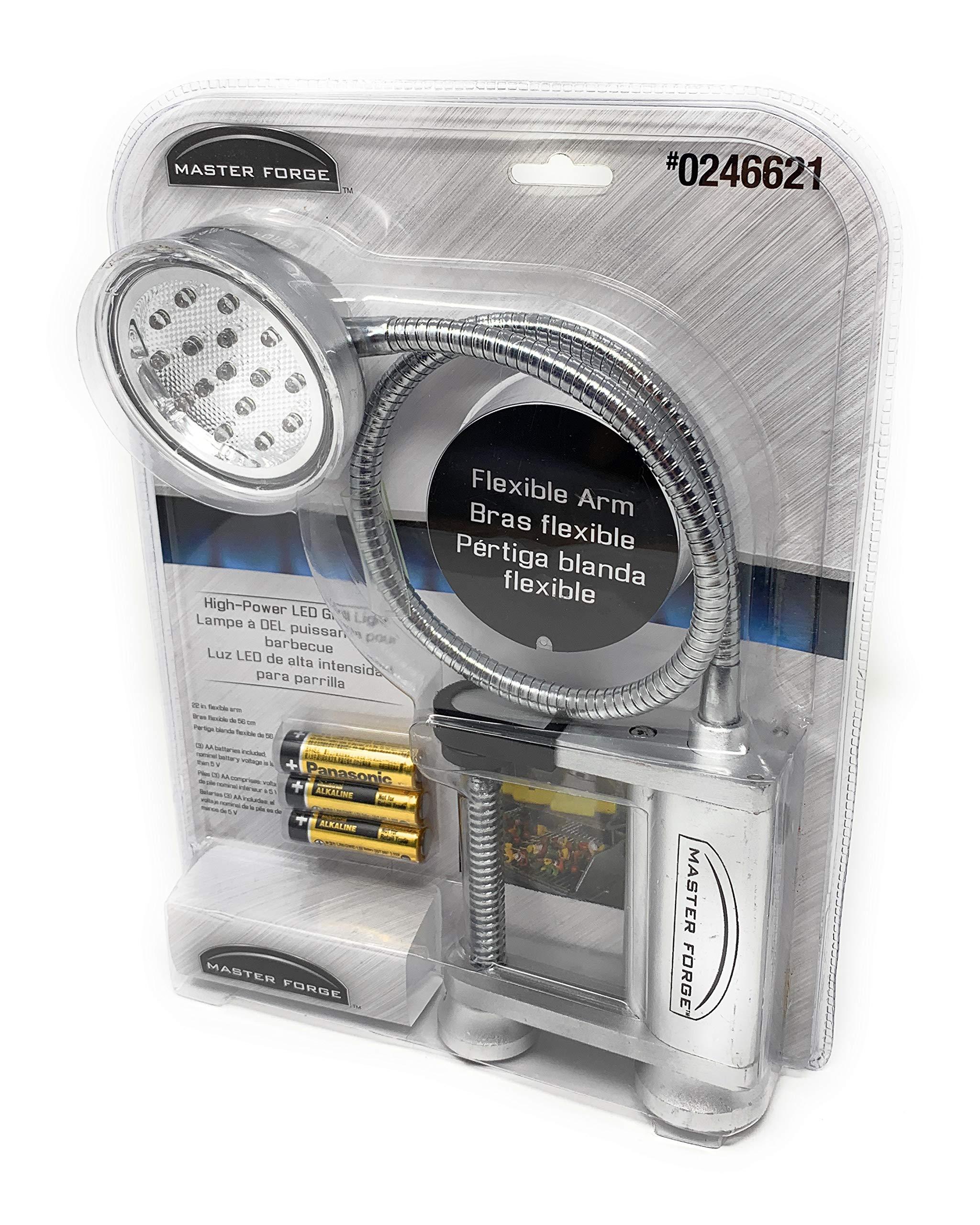 Master Forge LED Clamp or Magnet Grill Light Item# 246621 Model#69999 UPC# 820909699996