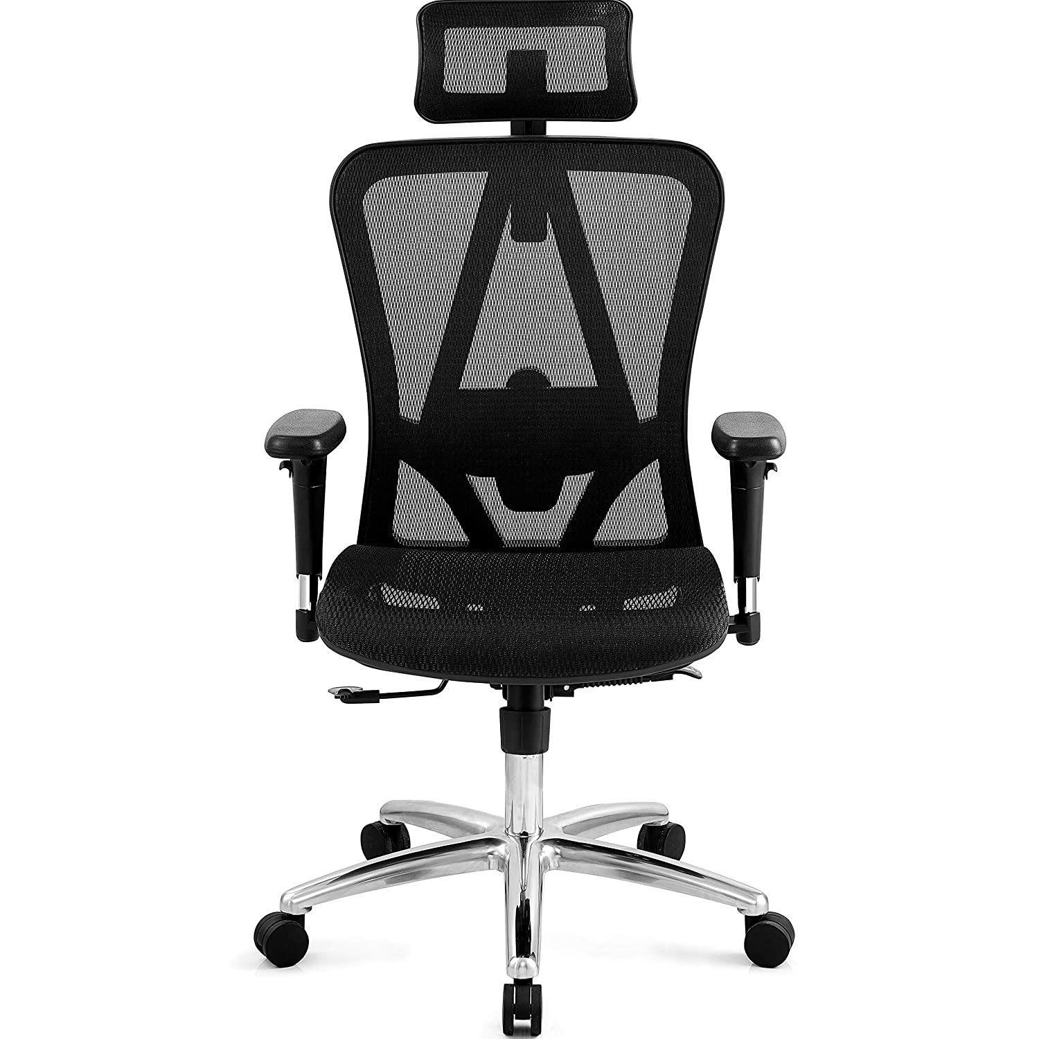 Ticova Ergonomic Office Chair with Adjustable 3D Armrest, Headrest and Lumbar Support – High Back Mesh Chair with Breathable Mesh Seat- Reclinable Computer Desk Chair