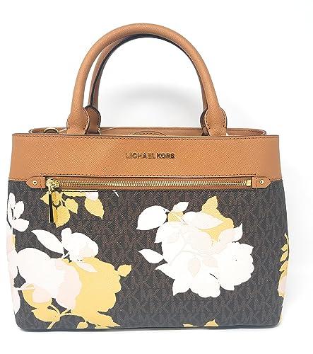 MICHAEL Michael Kors Women s HAILEE Medium Satchel Leather Handbag ... af4ca06f948c7