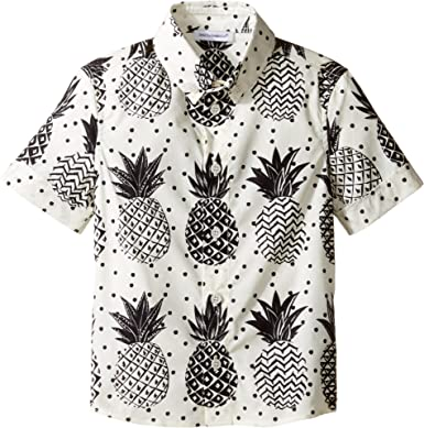 cec7ac83a665 Amazon.com  Dolce   Gabbana Kids Baby Boy s Pineapple Button Down (Toddler Little  Kids) White Print Button-up Shirt  Clothing