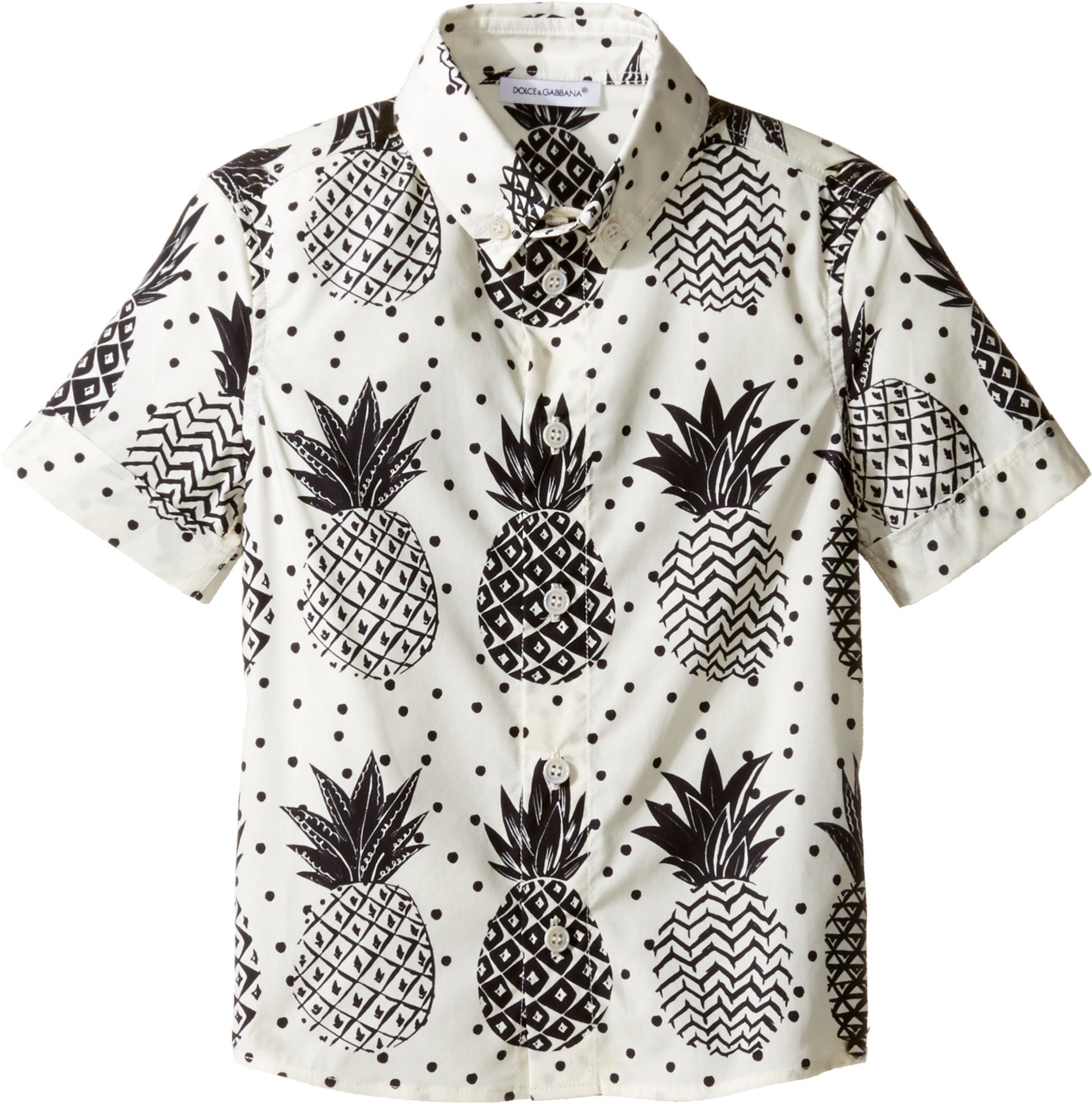 Dolce & Gabbana Kids Baby Boy's Pineapple Button Down (Toddler/Little Kids) White Print Button-up Shirt by Dolce & Gabbana