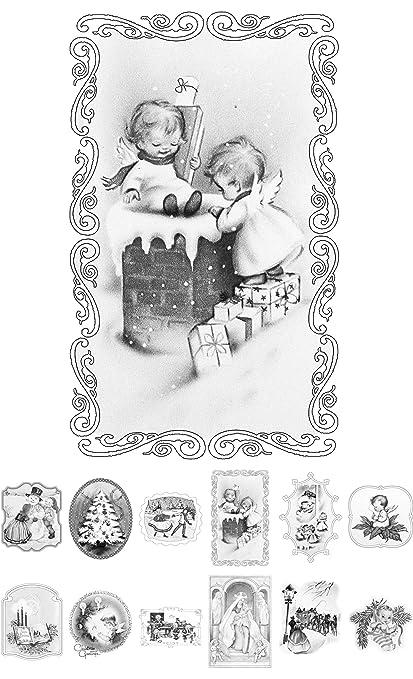Coloriage Adulte Vintage.Livre De Coloriage Pour Adultes 24 Cartes 10 2 X 16 5 Cm Vintage