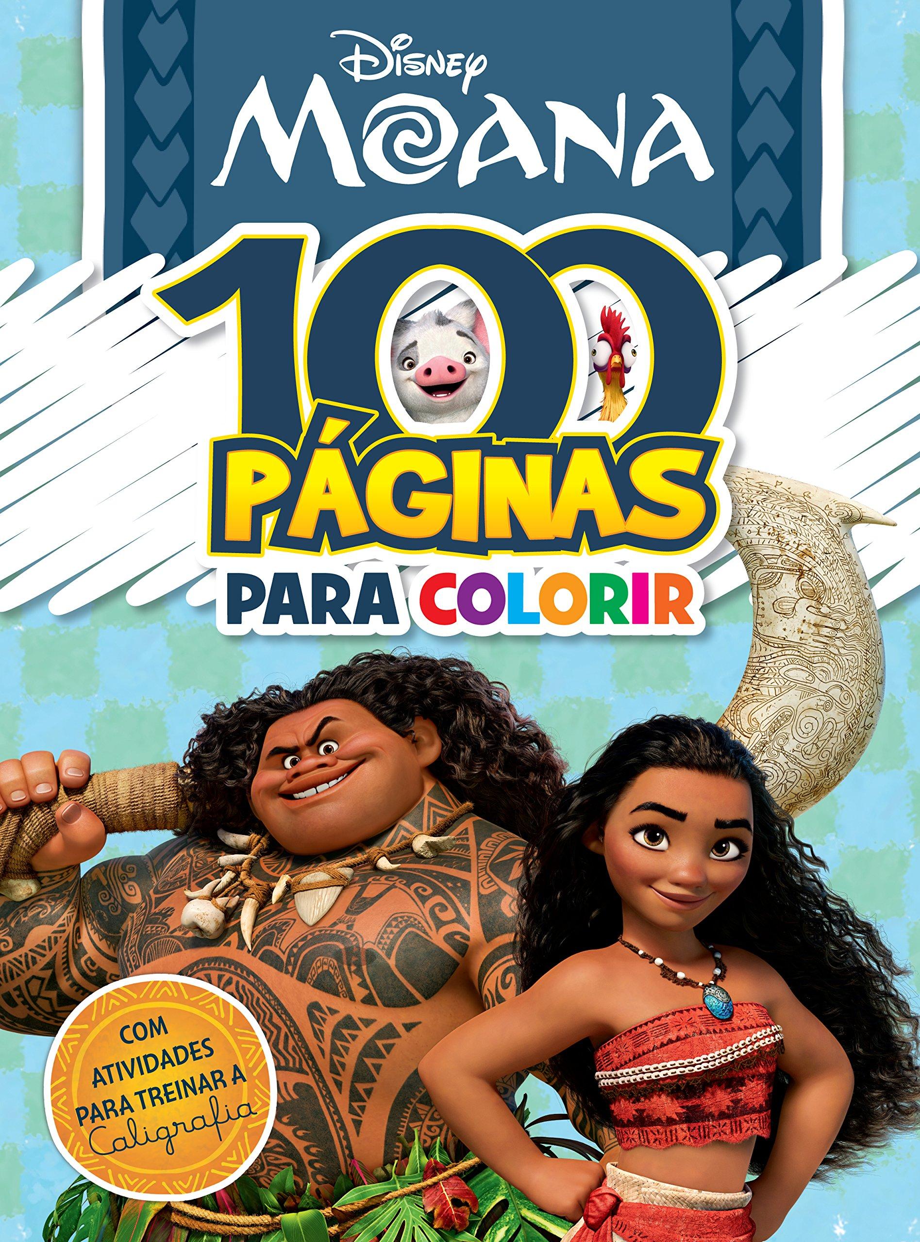 Disney 100 Paginas Colorir Moana Amazon Co Uk Varios Autores