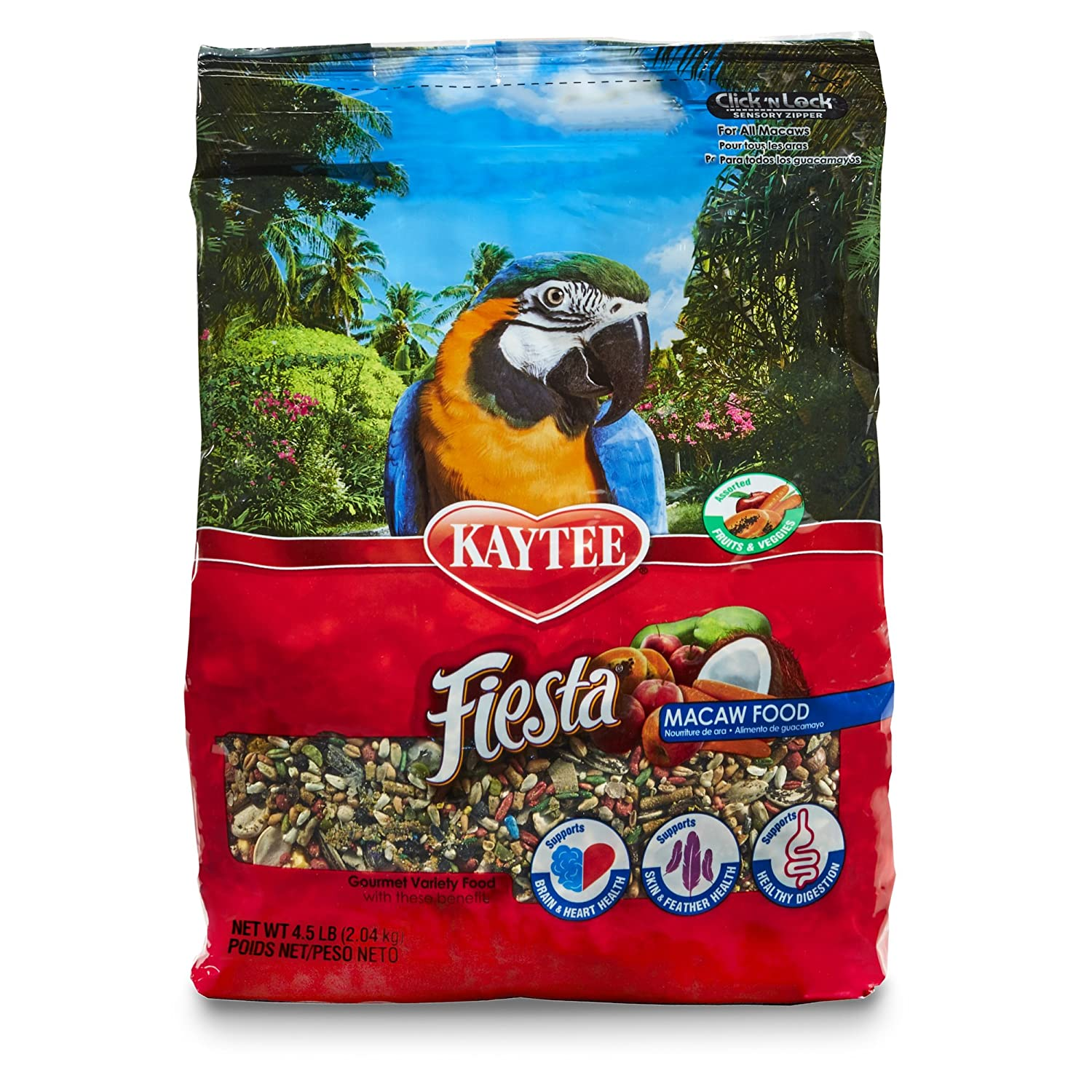 Kaytee Fiesta Bird Food for Macaws Kaytee Fiesta Macaw Food 4.5 Ib 100032250 subscribe and save^sns