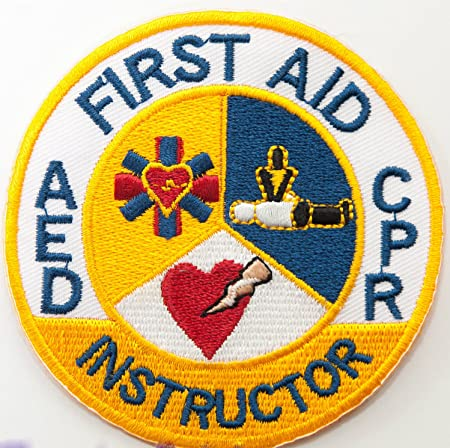 """Water Safety Instructor patch Red Cross 3/"""" rectangle embroidered"""