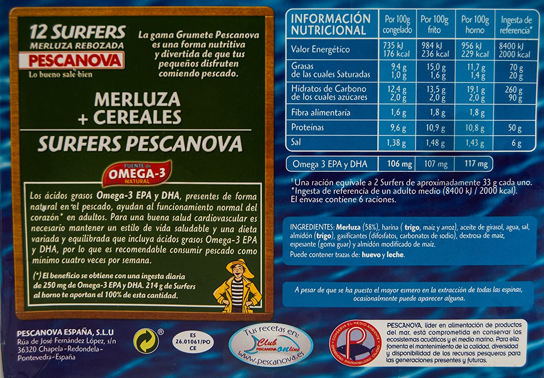 Pescanova - Surfers (Merluza rebozada): Amazon.es: Alimentación y bebidas