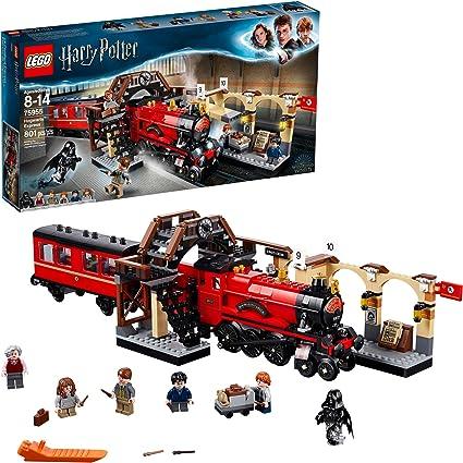 Lego Harry Potter Hogwarts Express 75955 Juego De Construcción De Trenes De Juguete Incluye Modelo De Tren Y Minifiguras Harry Potter Hermione Granger Y Ron Weasley 801 Piezas Toys Games