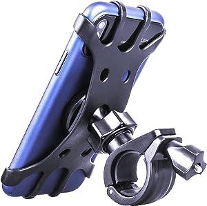 Bike Phone Holder, Bicycle Phone Holder Anti Shake Motorcycle Handlebar Mount with 360 ° Rotation Adjustable Bike Phone Mount for iPhone X/6/7/8 Plus, Samsung Galaxy S9/S8 Plus, 4