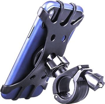 Soporte de teléfono para bicicleta, soporte de teléfono universal para manillar de bicicleta, soporte giratorio de 360 ° ajustable para absorción de impactos y soporte de motocicleta: Amazon.es: Electrónica