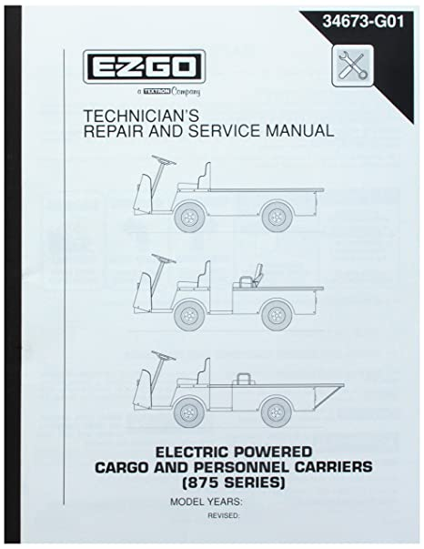 amazon com ezgo 34673g01 1998 1999 technician s repair and service rh amazon com Technical Data Technical Manual Clip Art
