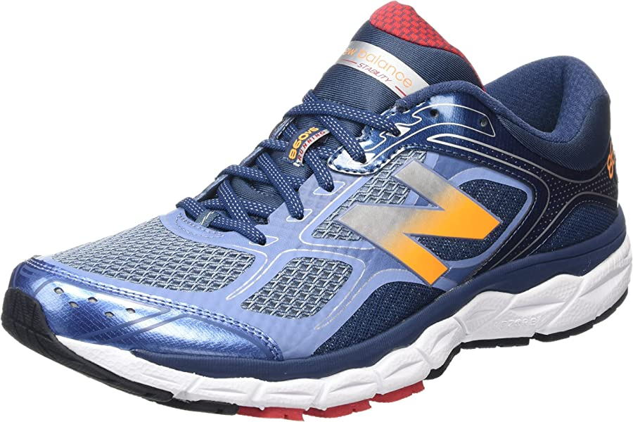 buy online 423fe 4f2a3 Amazon.com   New Balance M860v6 Running Shoes (D Width) - SS16-8 - Blue    Trail Running