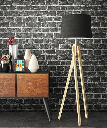 Tapete Stein Vlies In Schwarz | Schöne Edle Tapete Im Steinmauer Design |  Moderne 3D Optik