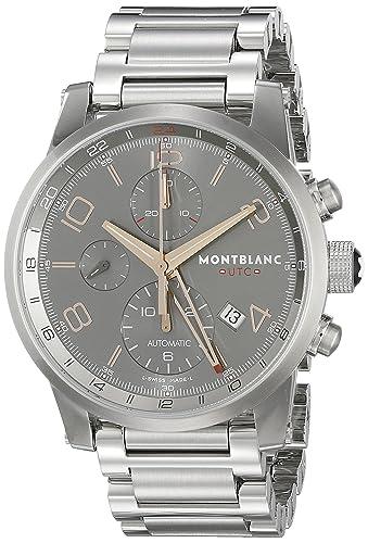 Montblanc Timewalker chronovoyager UTC Hombres del Acero Inoxidable Swiss Reloj automático 107303: Montblanc: Amazon.es: Relojes