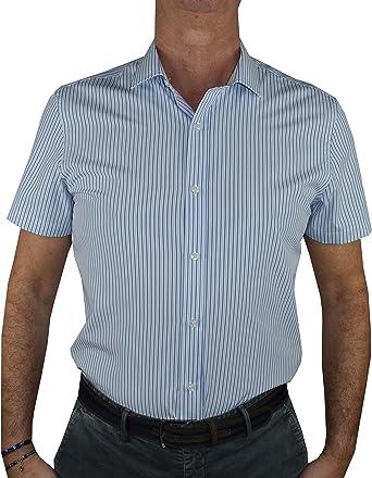 1stAmerican camisa media manga de hombre 100% algodón Silk Touch Regular Fit cuello clásico - No planchar TG hasta la XXXL: Amazon.es: Ropa y accesorios