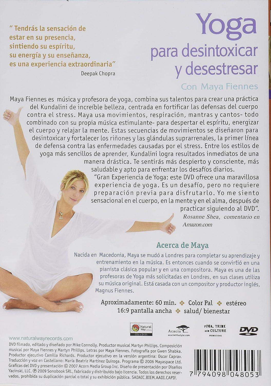 Amazon.com: Yoga Para Desintoxicar y Desestresar: Maya ...