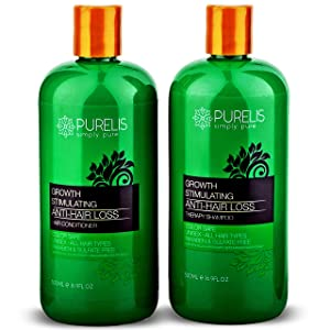 Natural Sulfate Free Hair Growth Shampoo & Conditioner Set for Hair Loss & Thinning Hair. Hair Loss Treatment for Men and Women. Natural & Organic Hair Product for Healthy Scalp.