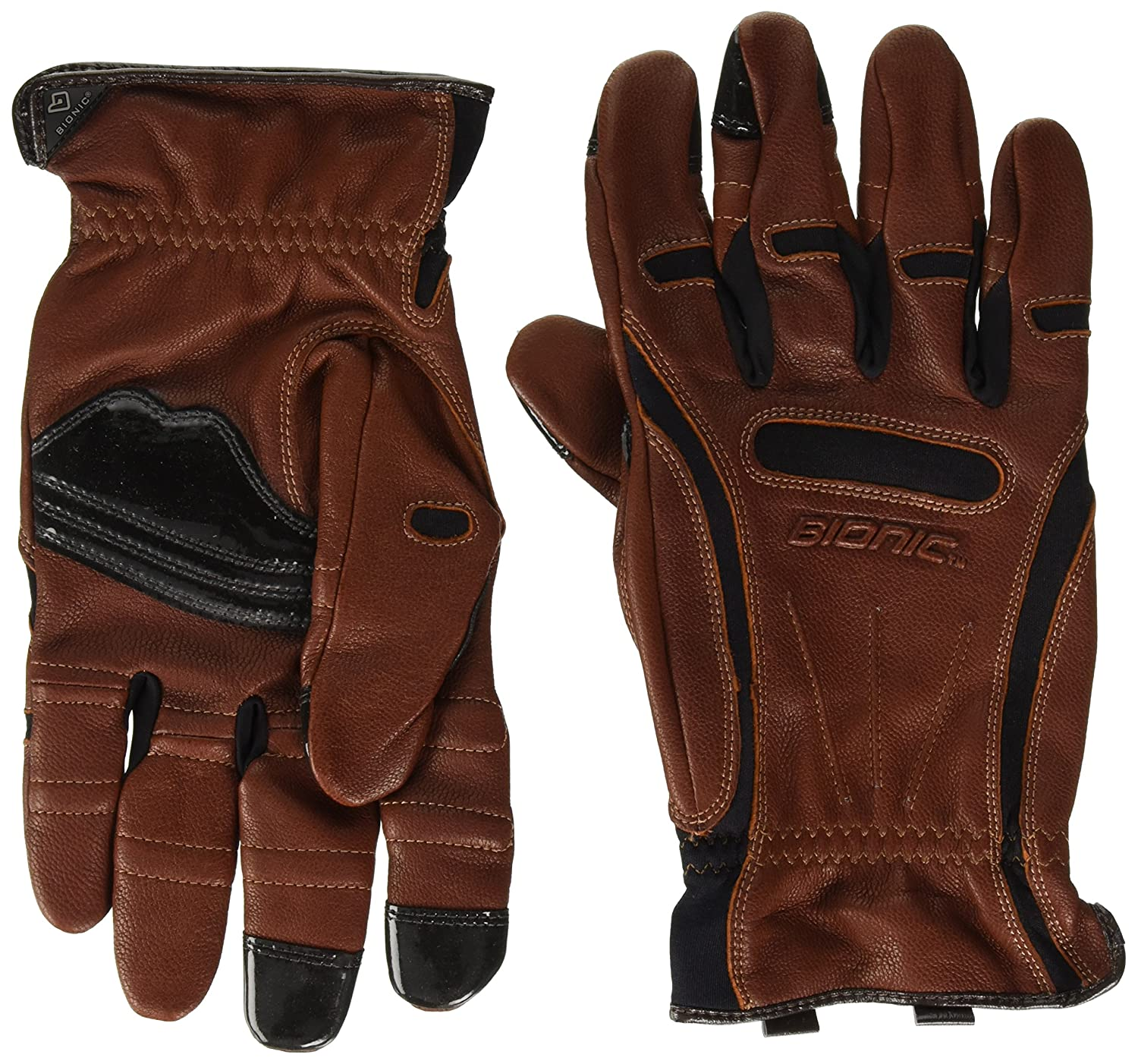 Bionic GDTN-M-P-BR-XL Men's Tough Pro with Natural Fit Premium Leather Glove, X-Large Brown