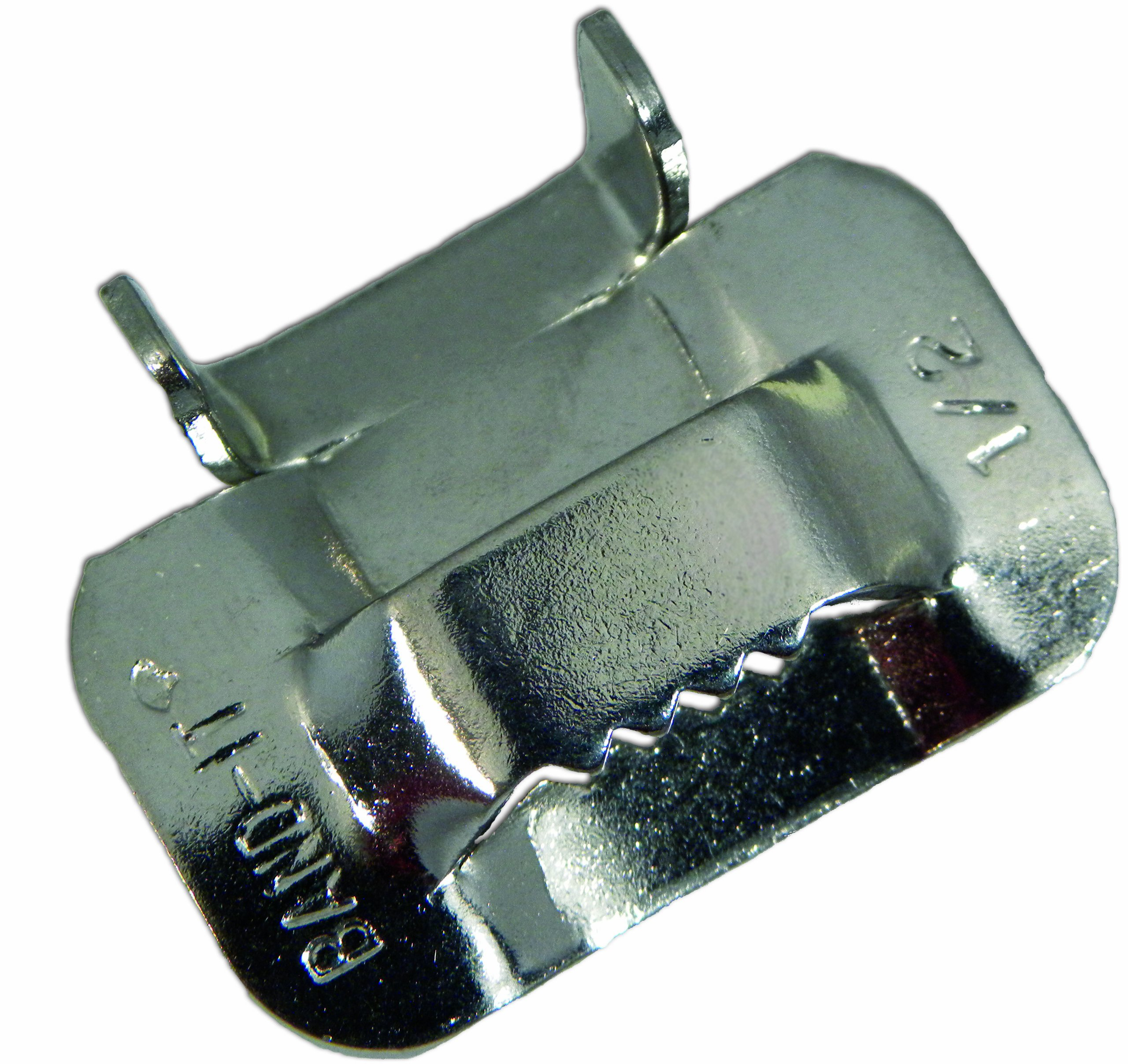 BAND-IT C25499 201/301 Stainless Steel Ear-Lokt Buckle, 1/2'' Width, 100 per Box