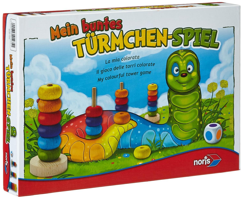 Noris Spiele 606011235 - Mein buntes Türmchenspiel, Kinderspiel NOR11235 Kinderspiele Non Books