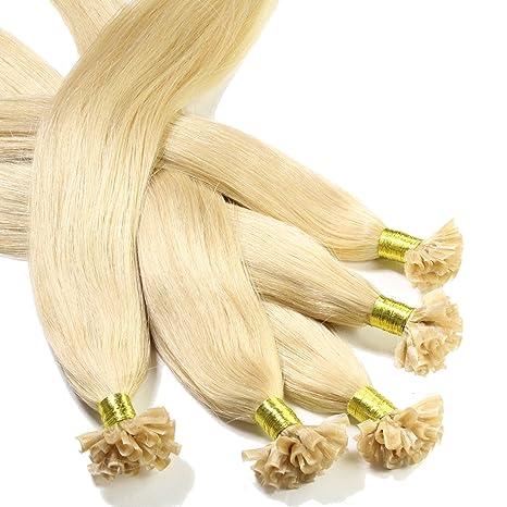 Just Beautiful Hair 25 U-tip Mechones Cabello Auténtico Remy India con Uniones Queratina 0.5