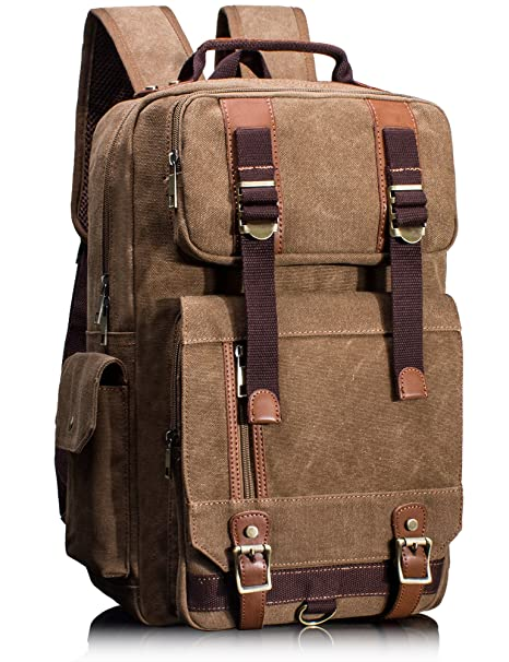 d125d2986e Image Unavailable. Image not available for. Color  Leaper Canvas Backpack  for Men Unisex Laptop ...