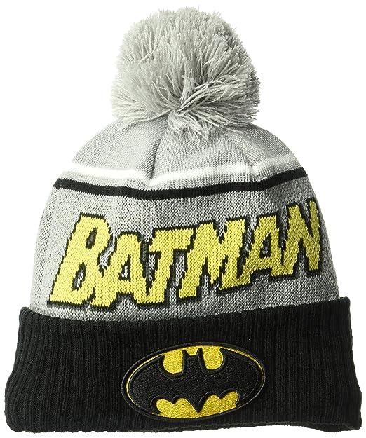 New Era Gorra para Hombre Joven Batman Jumbo Cheer Pom Knit Beanie – Gorro 7524aa6214f