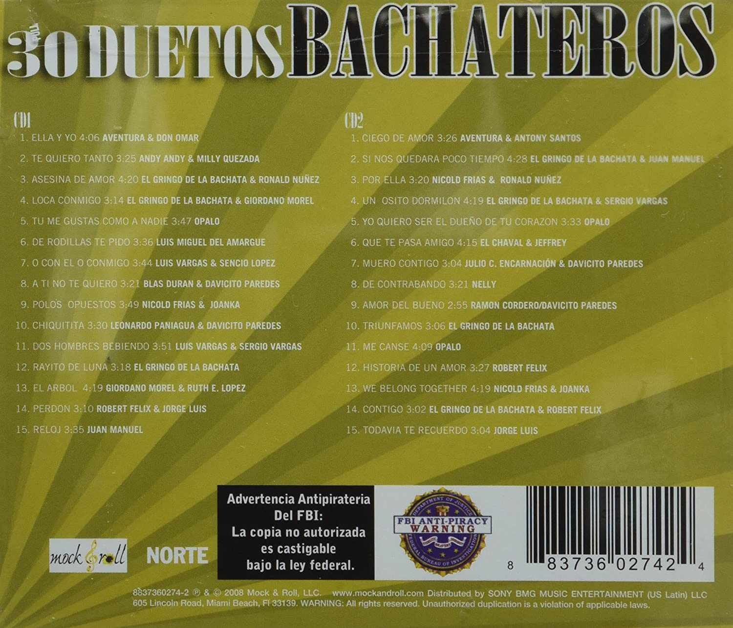 Various - 30 Duetos Bachateros Pegaditos - Amazon.com Music