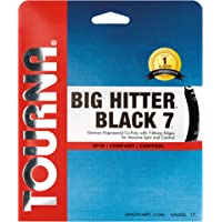 Tourna Big Hitter Black7 Ultimate Spin - Cuerda de poliéster para Raqueta de Tenis