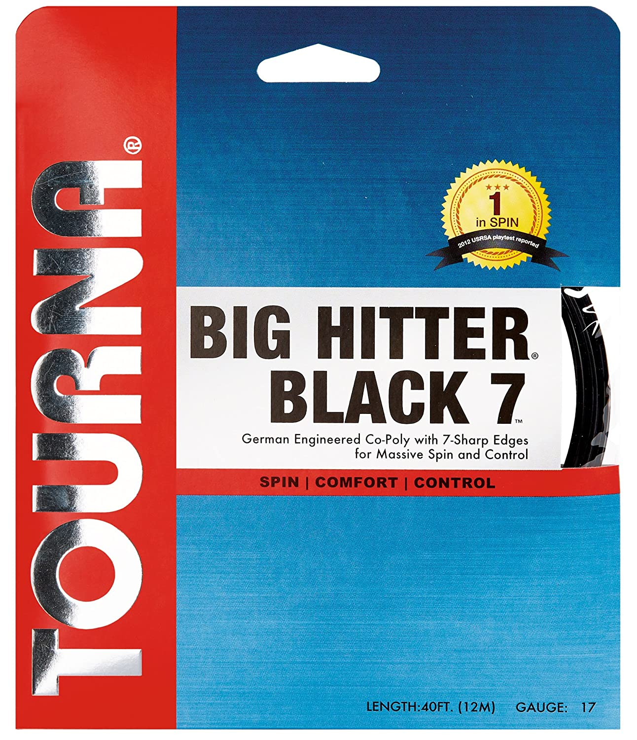 Tourna Big Hitter Black7 Ultimate Spin Polyester Tennis String