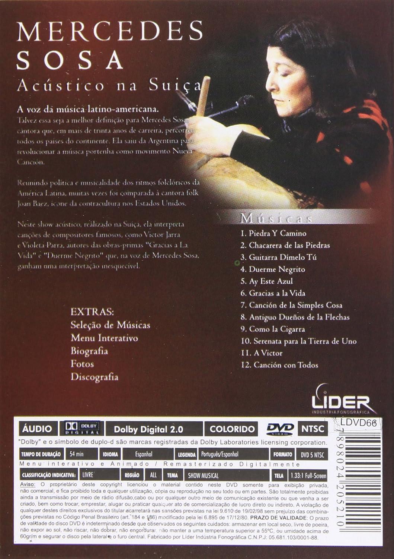 Acustico Na Suica [Alemania] [DVD]: Amazon.es: Mercedes Sosa: Cine ...