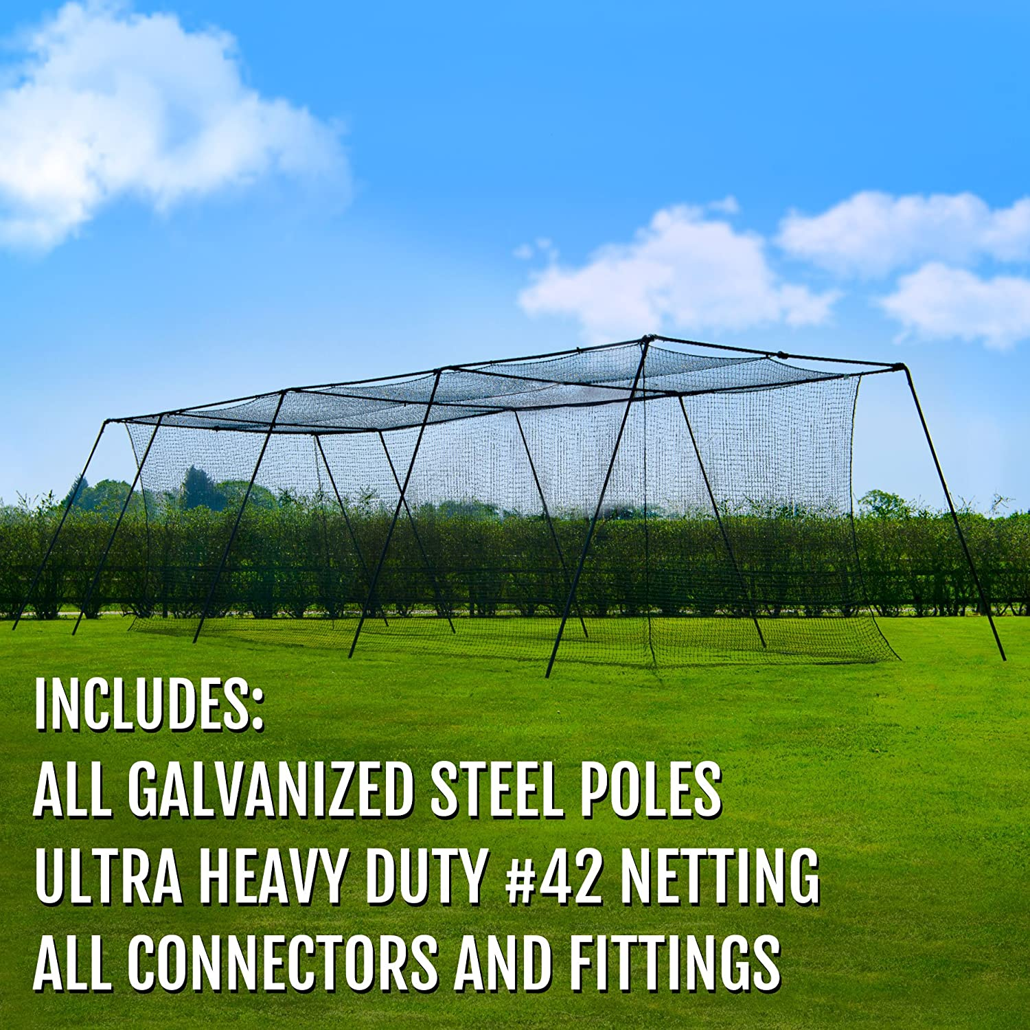 amazon com fortress trapezoid baseball batting cage complete