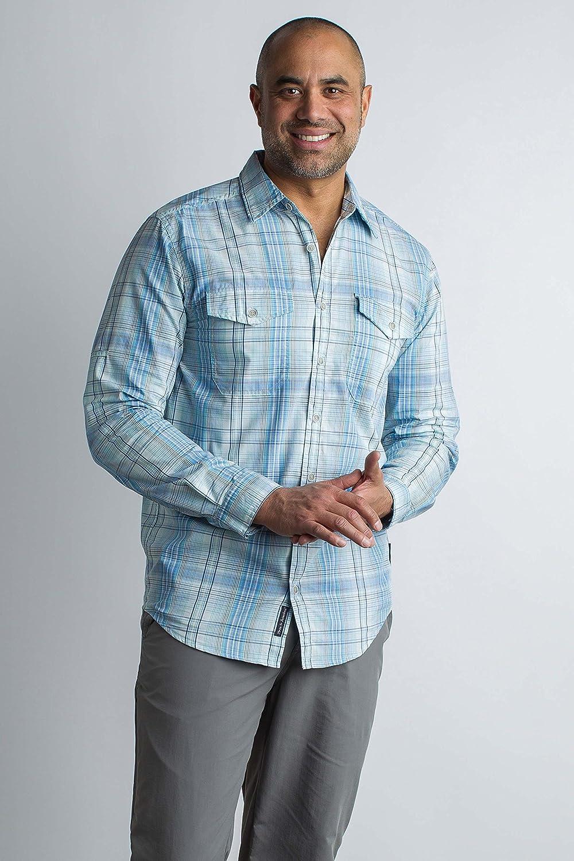 ExOfficio Mens BugsAway Sol Cool Plaid Lightweight Long-Sleeve Shirt 1101-2923-1