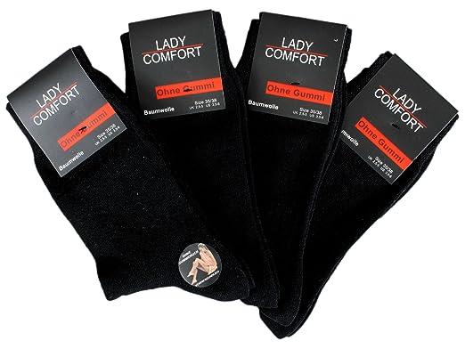 4 oder 8 Paar Herren Socken COMFORT Strümpfe ohne Gummibund Freizeitsocken
