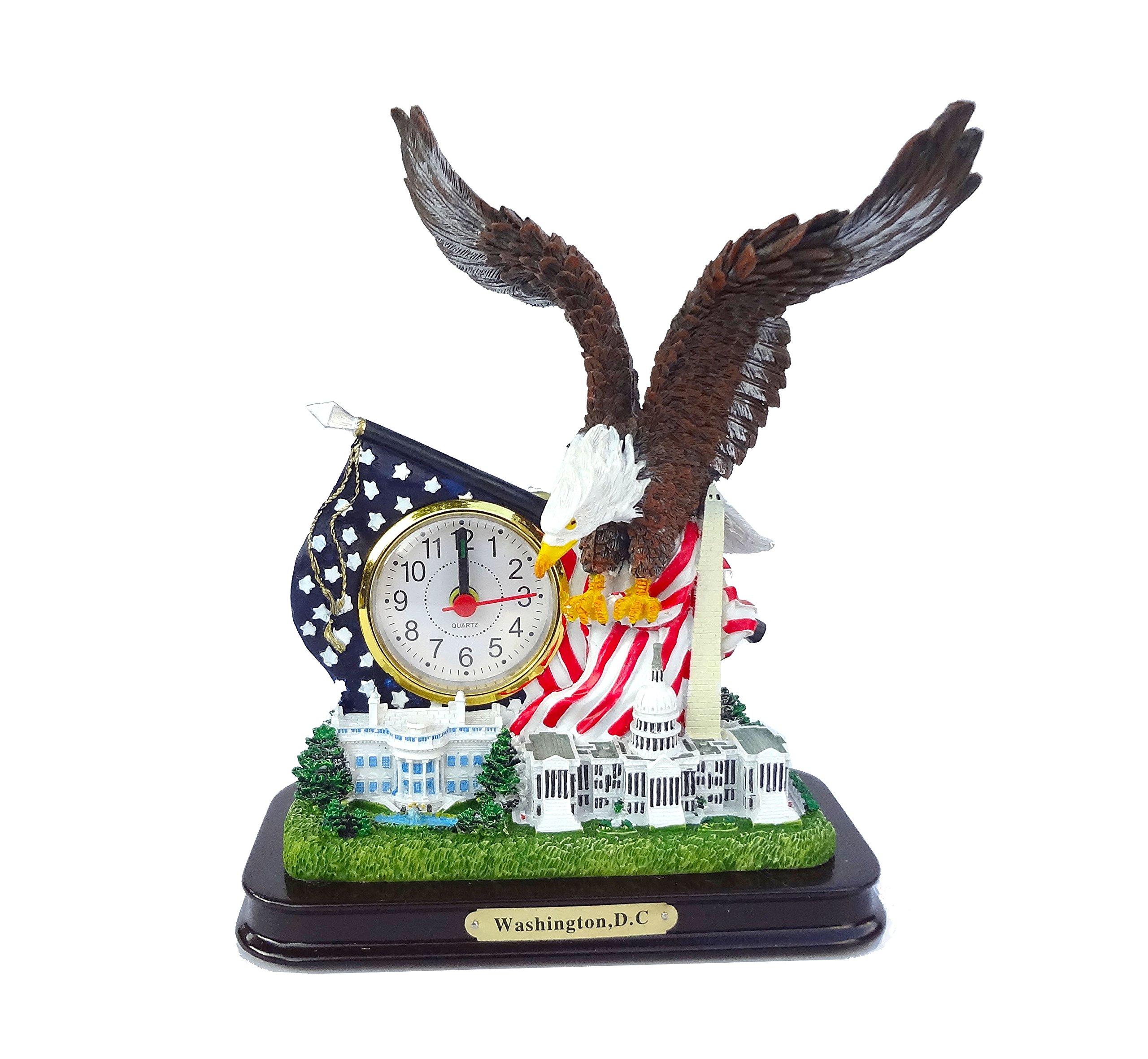 Washington DC Desk Clock: American Eagle