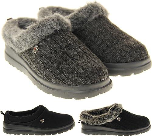 Testificar cura grupo  Skechers Bobs Mujer Zapatillas de Estar por Casa: Amazon.es: Zapatos y  complementos