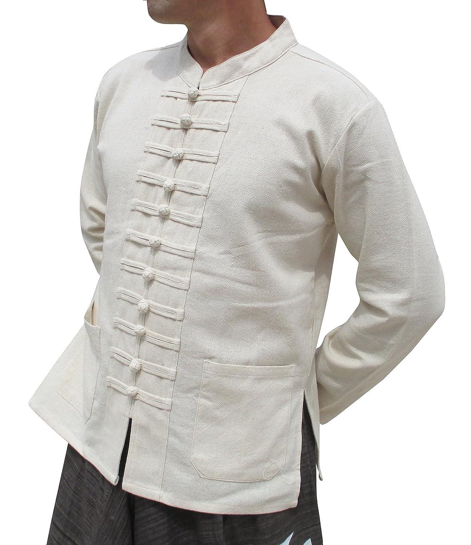 Raan Pah Muang RaanPahMuang Chinese Mandarin Collar Navelコットンジャケット多くボタンPlusサイズ B01HRDK7BO 5L|クリーム クリーム 5L