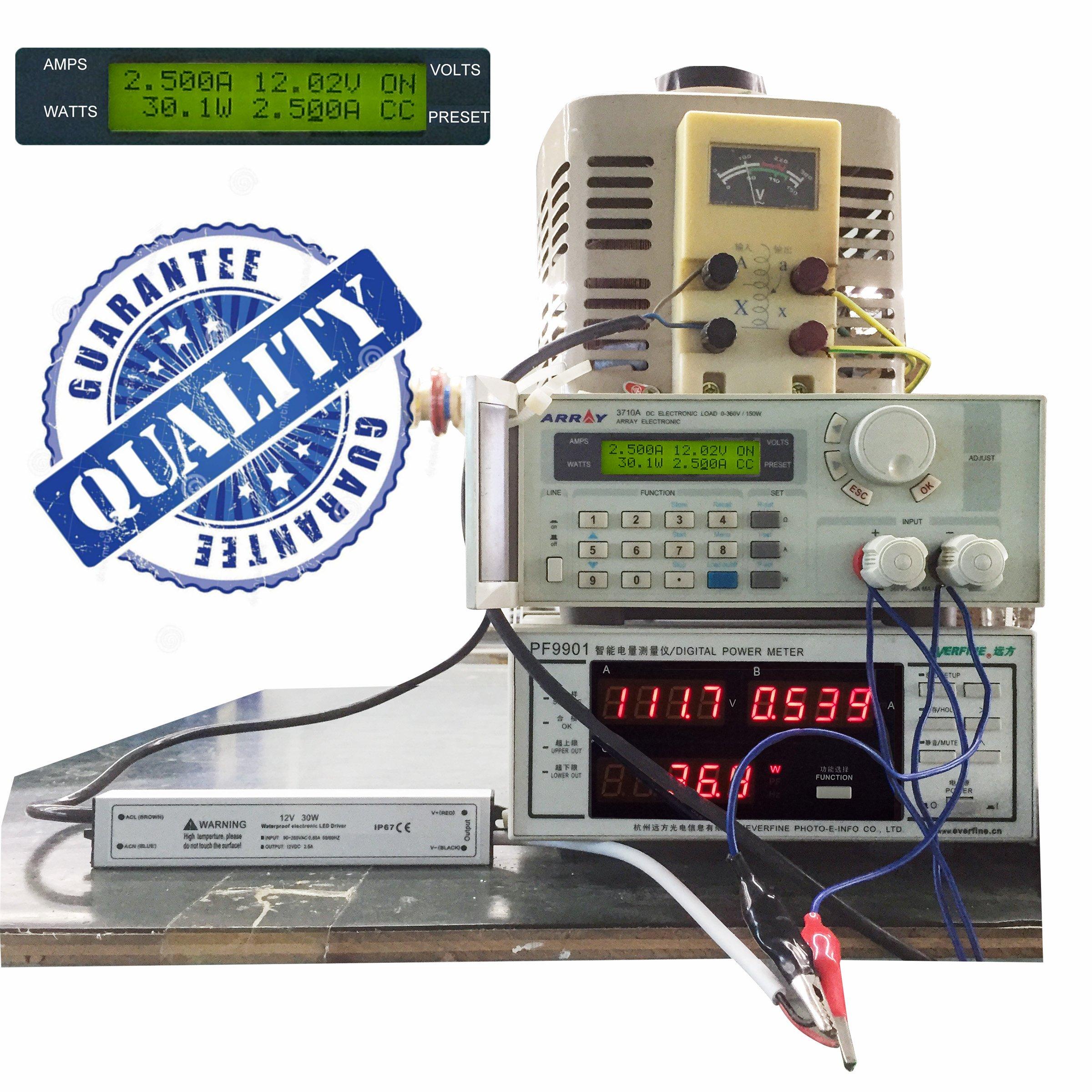 Aluminum Alloy Housing IP67 PLUSPOE Waterproof 12 volt 60 watt LED Power Supply Driver Transformer with 3-Prong Plug