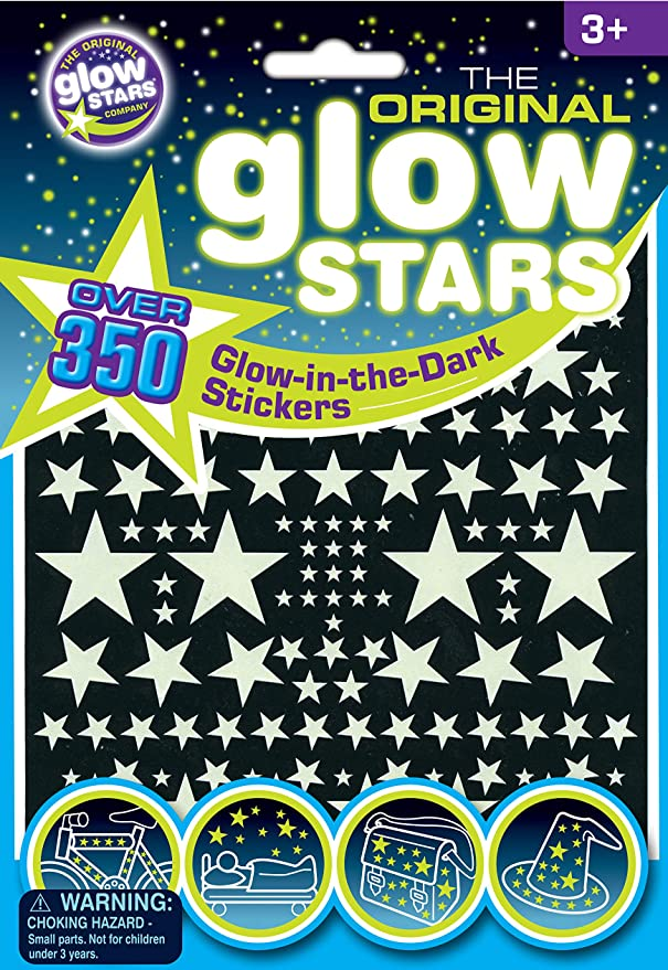 The Original Glowstars 350 Glow In The Dark Stars Designed For Children Ages 3 Years B8000 Toys Games Amazon Com