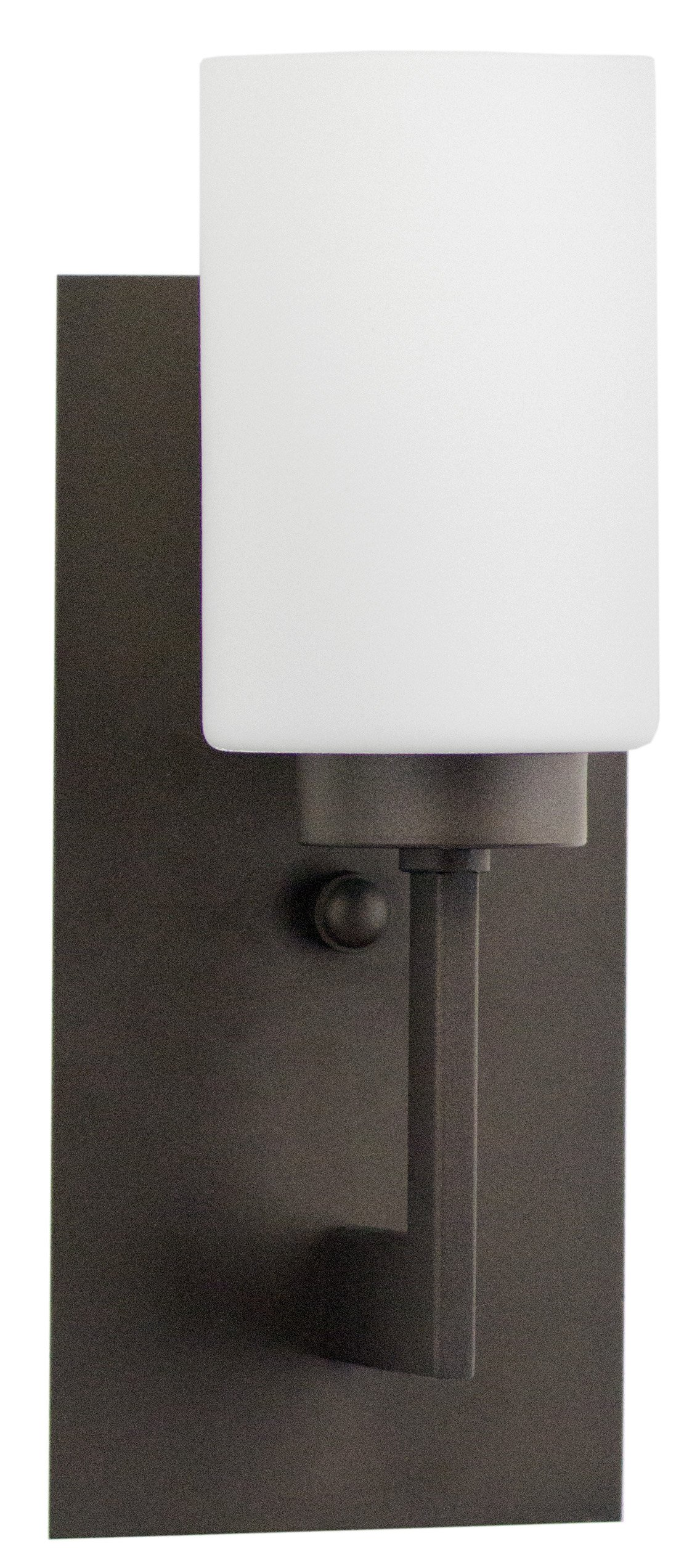 Brio Wall Sconce Light Fixture – Bronze w/ Frosted Glass Shade - Linea di Liara LL-WL151-DB
