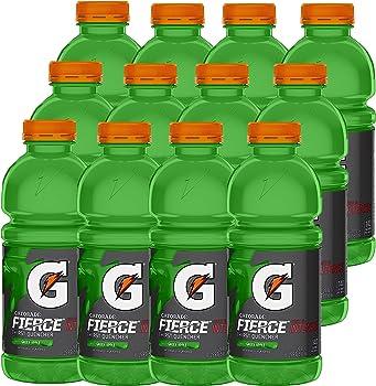 12-Pack Gatorade Fierce Green Apple, 20 Ounce Bottles