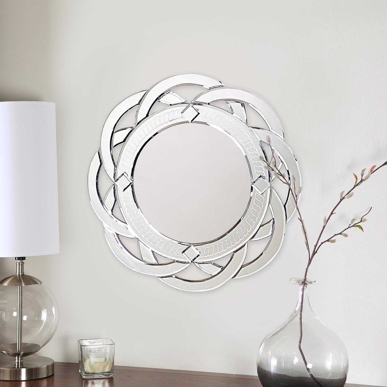 Howard Elliott 11008 Galaxy Round Contemporary Wall Vanity Mirror, 20-Inch