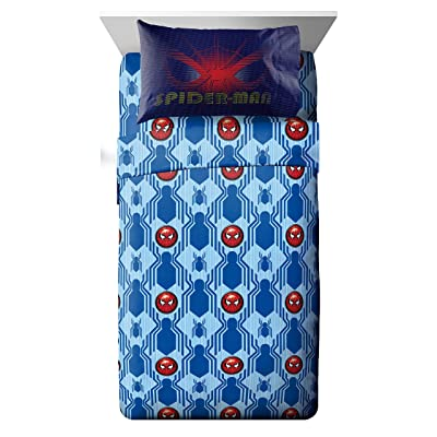 Jay Franco Spiderman Homecoming 3 Piece Twin Sheet Set,: Home & Kitchen