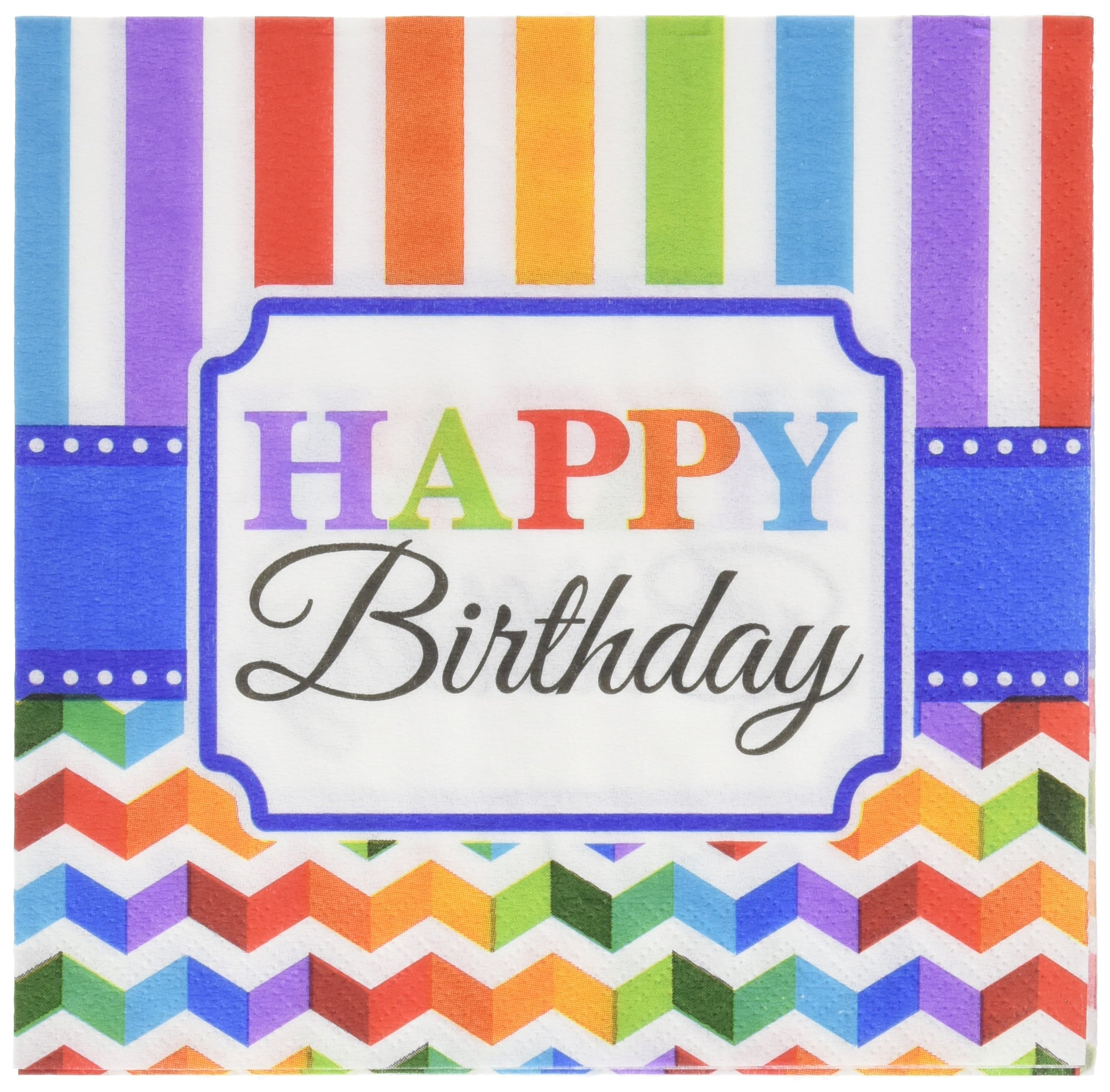 Luncheon Napkins   Multi color Collection   Birthday   192 Ct.