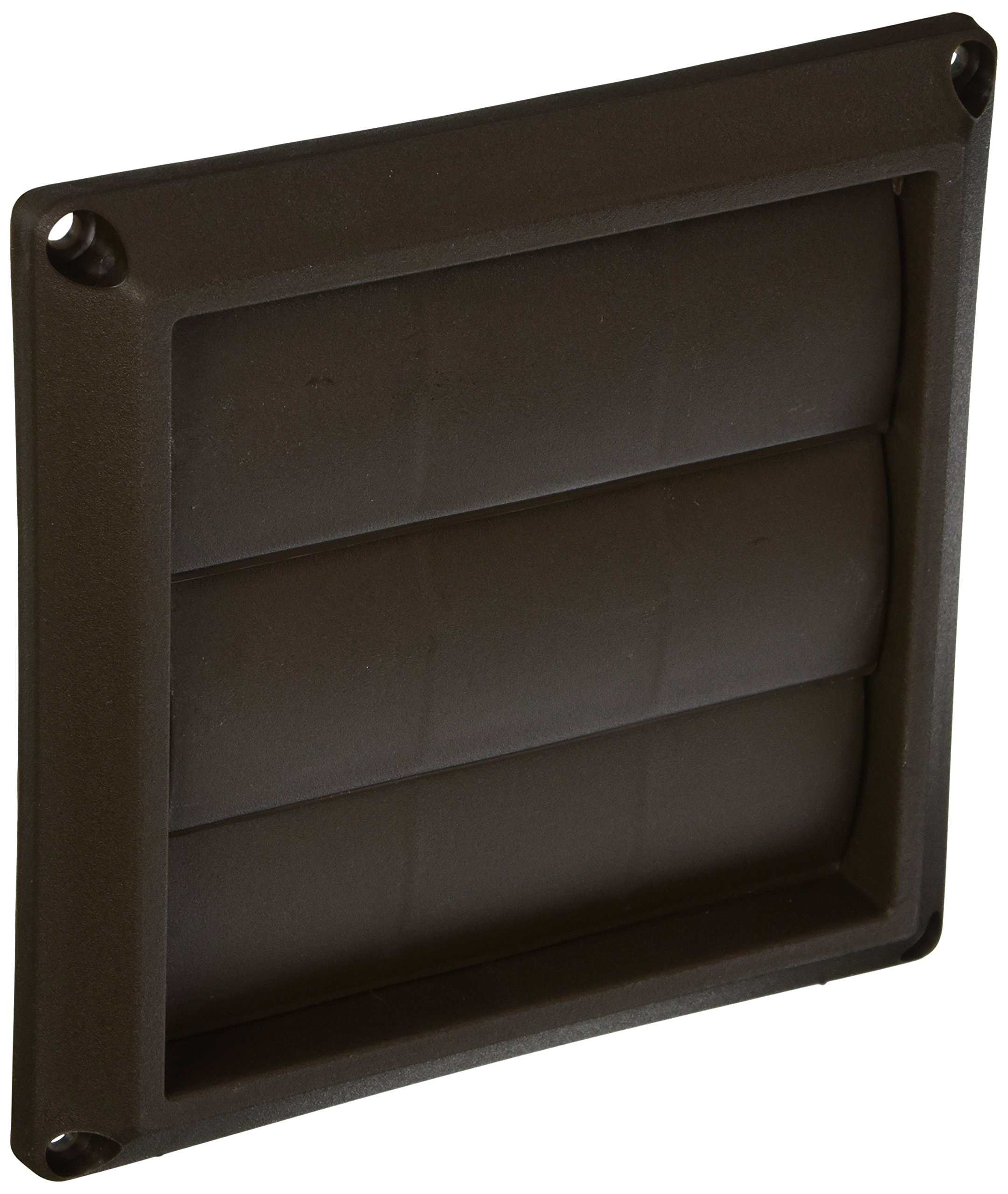 Lambro Industries 2677B Lambro dustries Plastic Louvered Vent Hood, 4'', Brown by Lambro