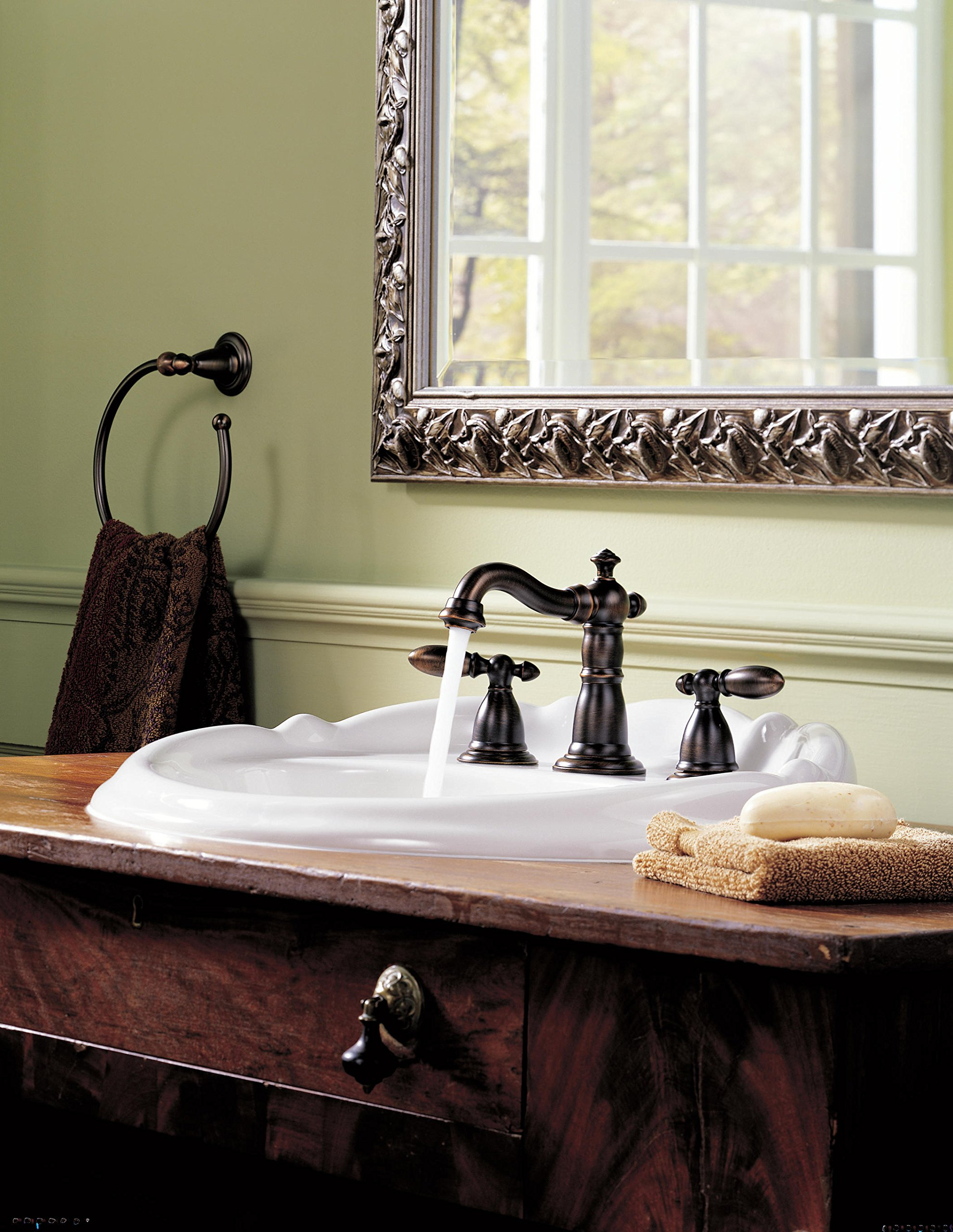 Delta Faucet H216RB Victorian, Two Metal Lever Handle Kit, Venetian Bronze