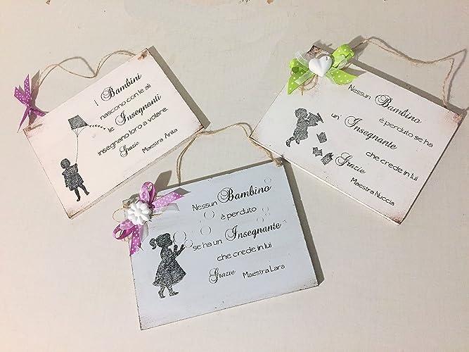 Idea regalo targa per maestra personalizzabile con nome amazon