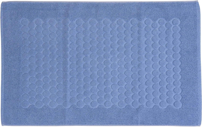 Dimensioni: 45X60 Piacevole Effetto in Rilievo a Bollicine Beige - Scendi Doccia Alta Qualita/' Made in Italy Lavabile in Lavatrice HomeLife Tappeto Bagno Rettangolare in Cotone