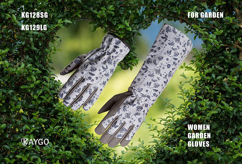 For Every Beautiful Women and Her Lovely Garden KAYGO KG128SG Women Garden Work Gloves Large