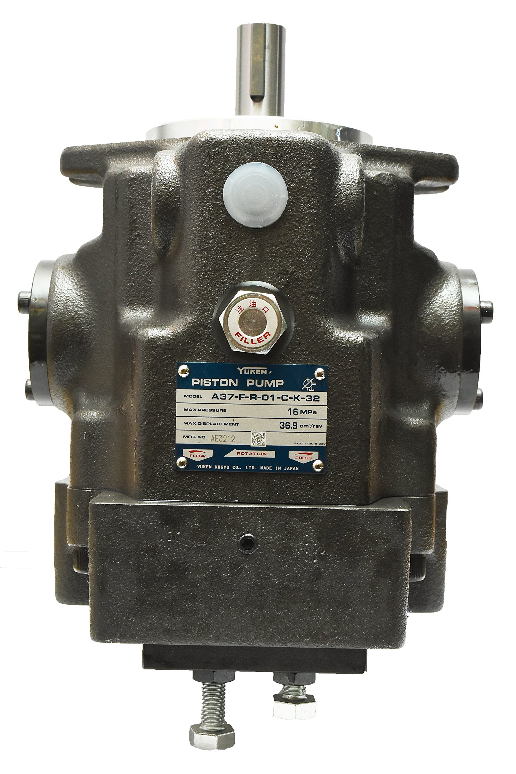 Yuken HYDRAULIC PISTON PUMP A37-F-R-01-B-K-32