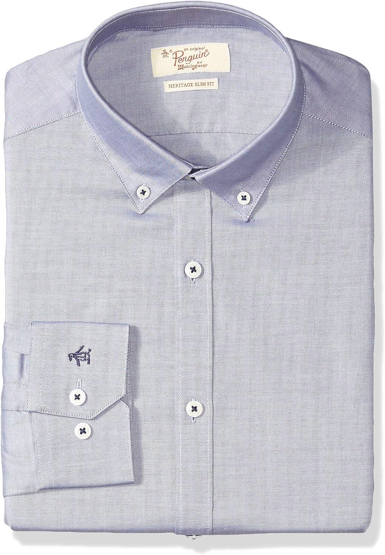 ORIGINAL PENGUIN Mens Essential Slim Fit Button Down Collar Dress Shirt Dress Shirt